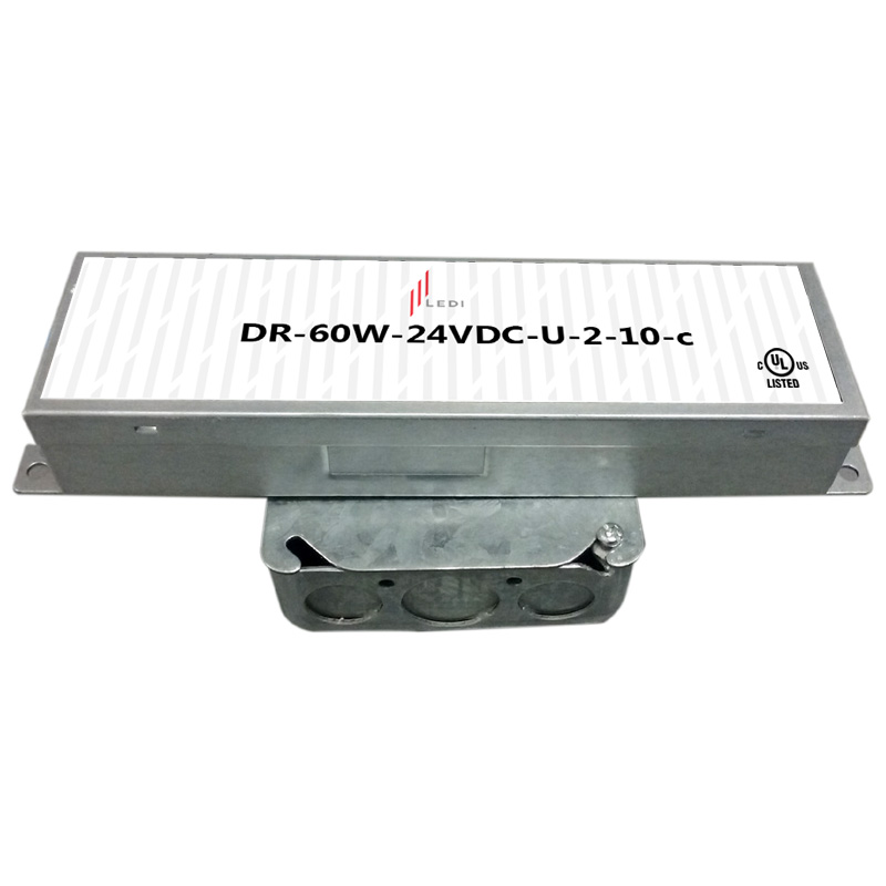 60W Electronic 120-277VAC 0-10V Dimmable UL Listed Driver
